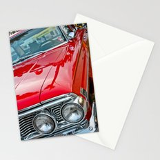 Red Ford Custom 500 Galaxie Police Car Stationery Cards