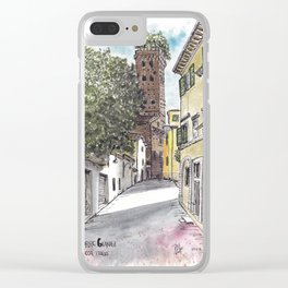 Guinigi Tower at Lucca, Italy Clear iPhone Case