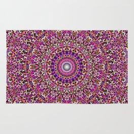 Colorful Girly Lace Garden Mandala Rug