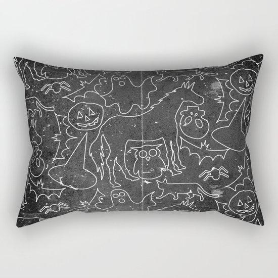 Halloween Spook Unicorn V02 Rectangular Pillow