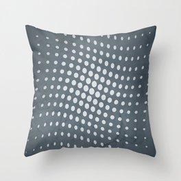 Halftone Flowing Circles in Peninsula Blue Throw Pillow