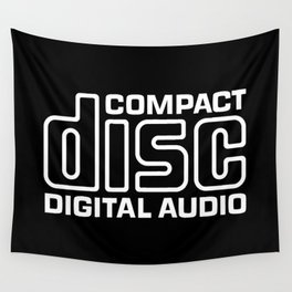 Compact Disk Digital Audio Logo - White Wall Tapestry