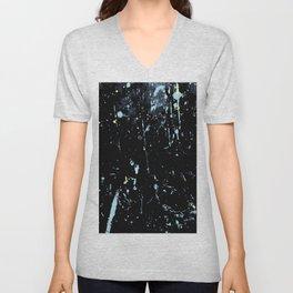 Decay Pattern, Black with Splash Unisex V-Neck