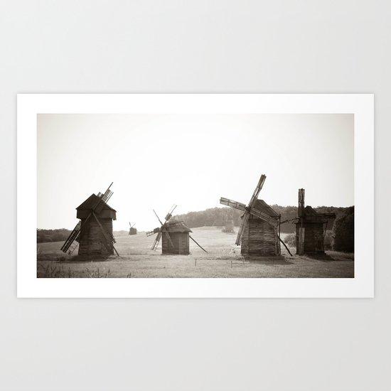 Forrest of windmills Art Print