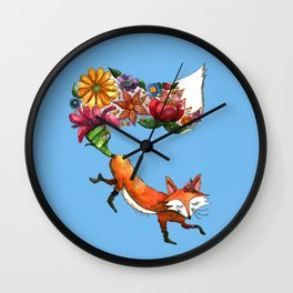 Hunt Flowers Not Foxes Wall Clock