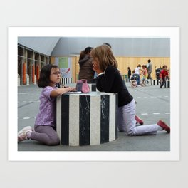 Serious Play at Palais Royal, Paris, 2010 Art Print