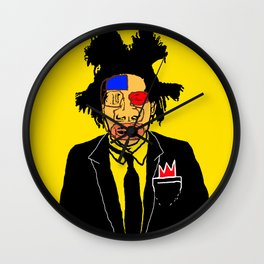 Jean Michelle Basquiat Wall Clock