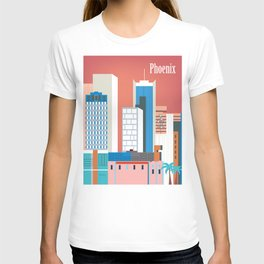 Phoenix, Arizona - Skyline Illustration by Loose Petals T-shirt