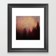 Repose, Abstract Landscape Trees Sky Framed Art Print