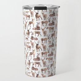Christmas Reindeer.  Travel Mug