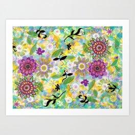 Summer Soft Floral Art Print