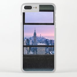 New York City Skyline Views Clear iPhone Case