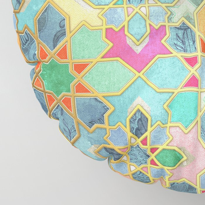 Gilt & Glory - Colorful Moroccan Mosaic Floor Pillow