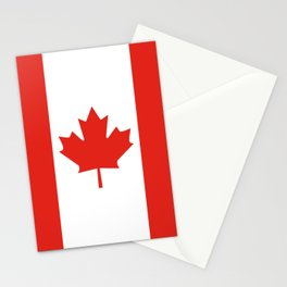 Red and White Canadian Flag Stationery Cards
