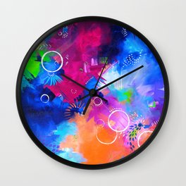 Scrap Paint 1 - Colorful abstract art Wall Clock