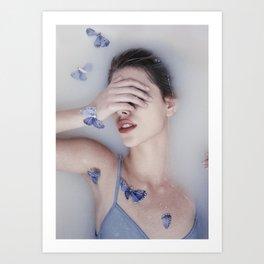 Butterfly bathe Art Print