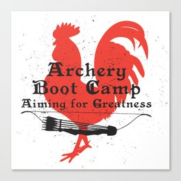 Archery Boot Camp >>-----> Aiming for Greatness Canvas Print