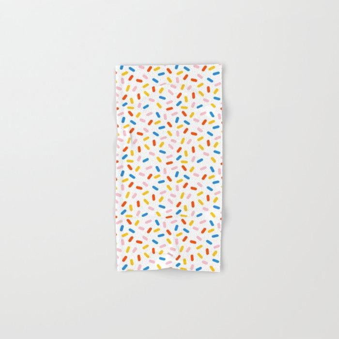 Livin' It - abstract pattern minimal modern primary colors pantone gender neutral retro throwback Hand & Bath Towel