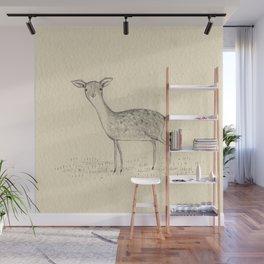 Monochrome Deer Wall Mural