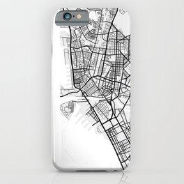 Manila City Map of Philippines iPhone Case