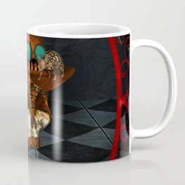 Steampunk, awesome, skull with rat and crow Coffee Mug