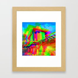 Psychedelic Architecture in Beachwood Canyon Framed Art Print