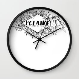 Polaire Siberian Huskies Wall Clock