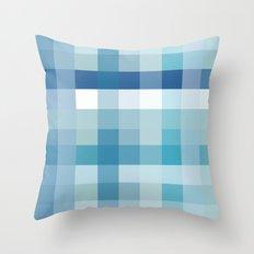 Pixelate Ocean Throw Pillow