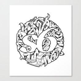 S6 Tee (Tangled6) Canvas Print