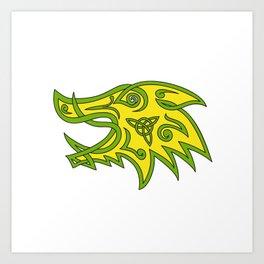 Boar Head Celtic Knot Art Print