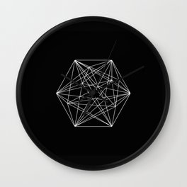 Intricate - Black And White Geometric, Conceptual Abstract Wall Clock