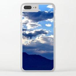 Blue Sky Dusk Clear iPhone Case