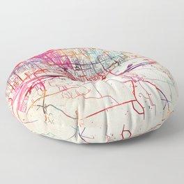 Moline map Illinois IL Floor Pillow