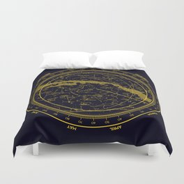 STARMAP 1 blue & gold Duvet Cover