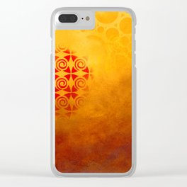 Pattern in a sandstorm Clear iPhone Case