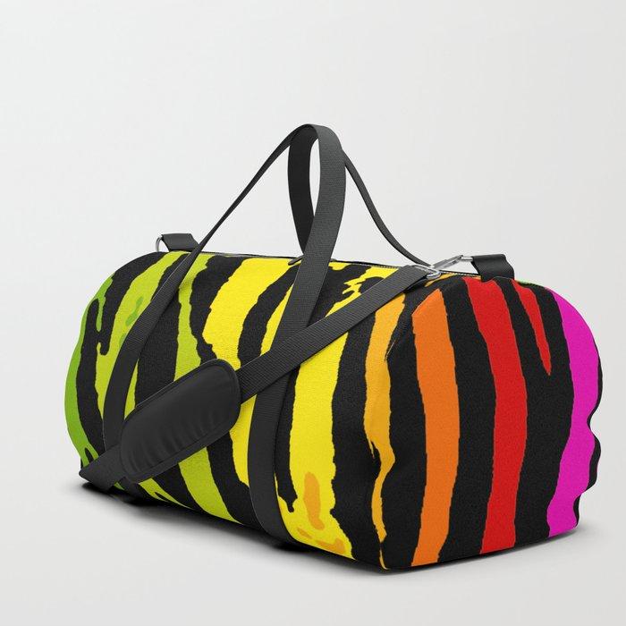 Rainbow Tiger Duffle Bag By Havocgirl