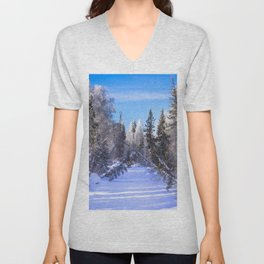Frozen river Unisex V-Neck