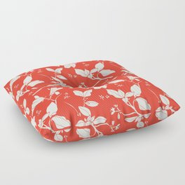 Drawings from Stonecrop Garden, Pattern in Red Floor Pillow