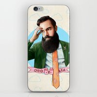 montana iPhone & iPod Skins featuring Mr. Montana by keith p. rein