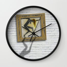 Woman Equal Rights Nudes Squares Pattern Wall Clock