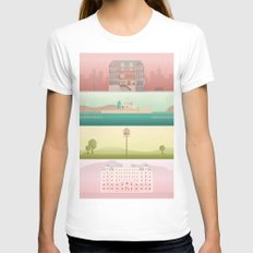 A Wes Anderson Collection White Womens Fitted Tee MEDIUM