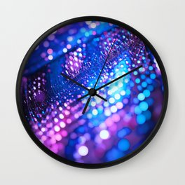 Blue & Violet Glitter Abstracts Wall Clock