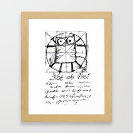 Kot da Vinci (black and whie) Framed Art Print