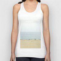 santa monica Tank Tops featuring Santa Monica Beach by Pure Nature Photos