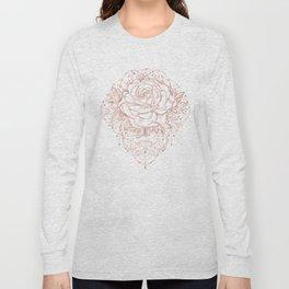 Mandala Lunar Rose Gold Long Sleeve T-shirt