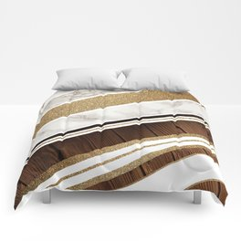 Granite/Wood Gold Pattern Comforters