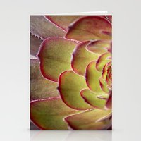 succulent Stationery Cards featuring Succulent by Shy Photog