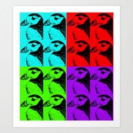 Pop Art Puffin Art Print