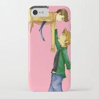 destiel iPhone & iPod Cases featuring Destiel by doodle bags