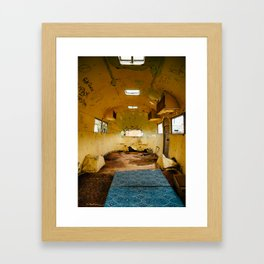 Abandoned airstream Framed Art Print